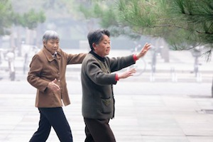 elder people play Tai Chi: Falls Prevention