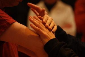 Push Hands: Ting jin (hear), dong jin (understand), hua jin (neutralise)